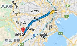 座間駅 地図