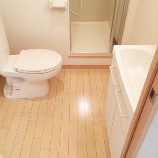 脱衣所 お風呂トイレ別はウレシイですよね。けっこう広いです。