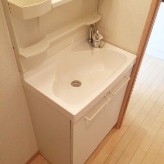 今やたいへん需要が高い独立洗面台。これで朝の支度もバッチリです