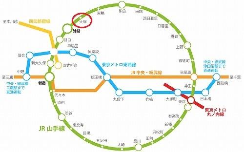 山手線 大塚駅 駅近