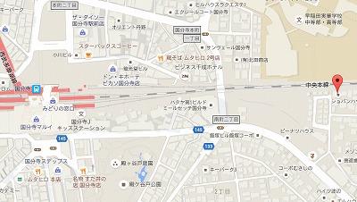 ショパンハウスの地図