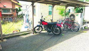 バイク置き場 1