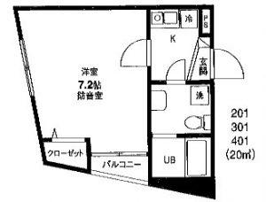 横浜 楽器可 防音賃貸マンション カンタービレ横浜 24時間演奏可能な防音室付き