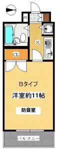 埼玉県埼京線 防音室 モーツァルトパーク戸田公園 Bタイプ