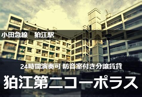 小田急線 24時間演奏可 防音室付き 分譲賃貸