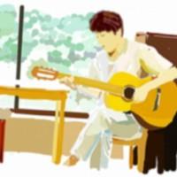 音楽 物件  田端駅 西日暮里駅の近くメゾンオルテでギター演奏