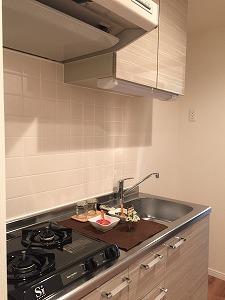 キッチンはガス2口