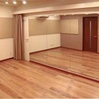 麻布防音スタジオ・スタジオ内 大型鏡