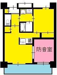 アーツ菊川・間取り図