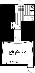 麻布防音スタジオ・間取図
