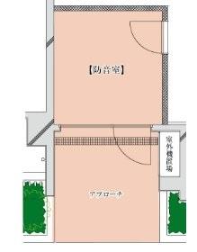 世田谷区 豪徳寺駅4分 音楽マンション の 防音室