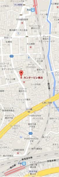 カンタービレ横浜の地図アクセス