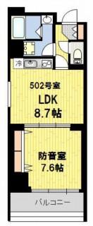 防音マンション 神楽坂haru 502