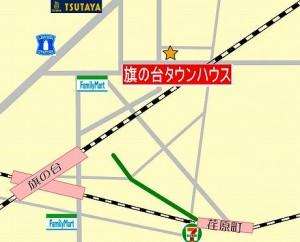 楽器演奏 可の広い部屋 東急 旗の台 地図