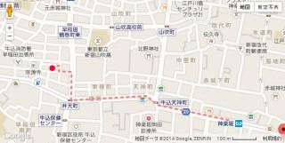 防音マンション 神楽坂haru 地図2