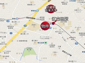ミュージション江古田・地図