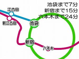 ミュージション江古田・路線図