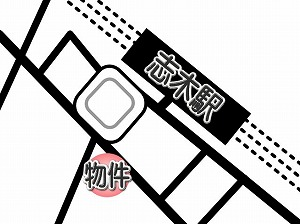 ミュージション志木・駅近地図