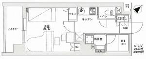 駐車場 のある 赤塚 駅前 24時間 演奏可 音楽 防音マンション ミュージション  の 間取