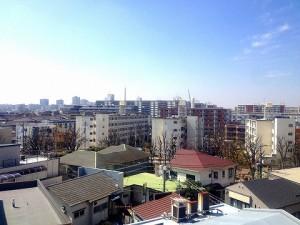 副都心線 赤塚 防音 マンション バルコニーから見た景色