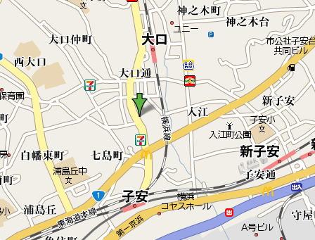 防音マンション神奈川県横浜市現地案内地図