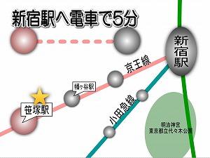 パークキューブ笹塚・路線図
