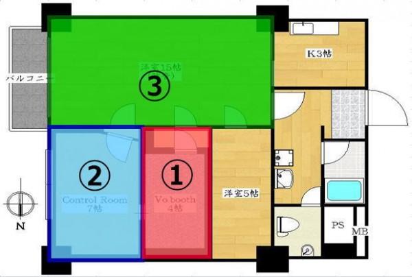 新 高円寺 の賃貸マンション レコーディングスタジオ 付で 音楽教室も可