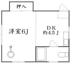 高井戸徒歩5分で1DK 6万円の安価な楽器可賃貸