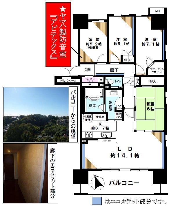 川崎市 溝の口 防音室付の中古分譲マンション4LDK、4090万円で ...