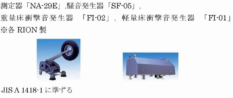 防音性能の測定器