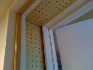 ドア間の吸音処理 エコー対策