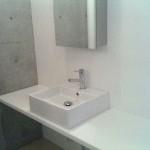 防音マンション 金線 デザイナーズ仕様の洗面台