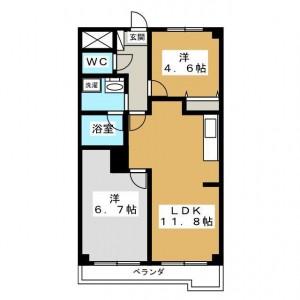 JR中央線 日野駅にある防音室付き2LDK 9.9万円 センチュリー日野 ...