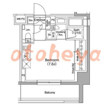新築の楽器可相談 の 賃貸物件 1R 10.7万円の図面1